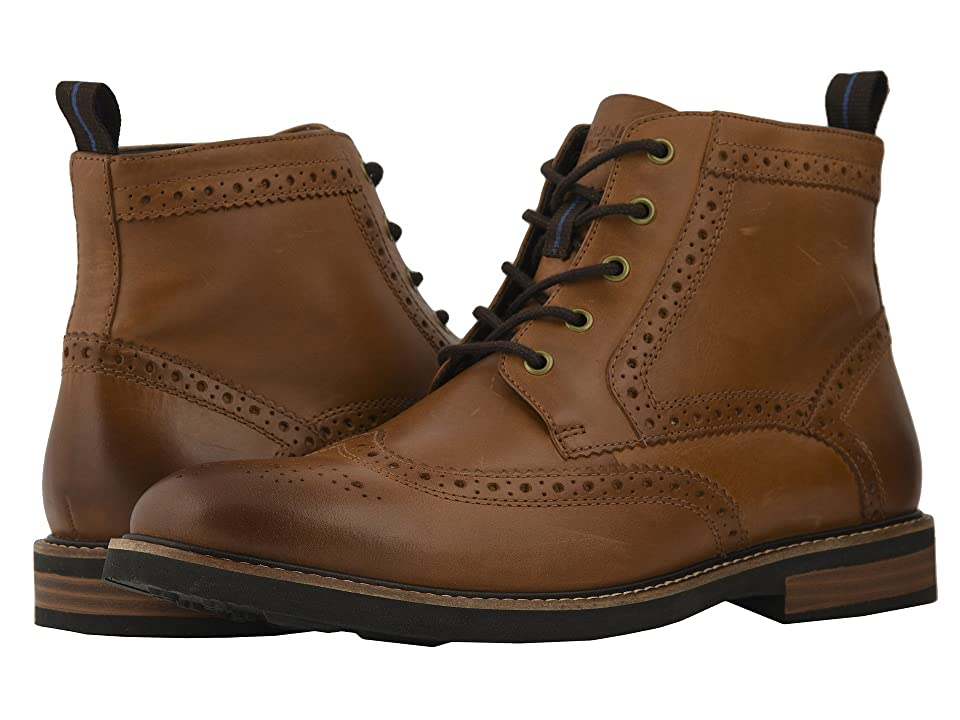 Nunn Bush Odell Wingtip Boot with KORE Walking Comfort Technology (Tan CH) Men