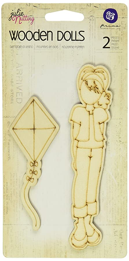 Prima Marketing Mixed Media Laser Cut Wood Doll Shapes Paper Stamp, Madison, 2 Pieces Per Pack