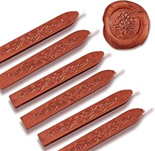 Orange Pearl Premium Sealing Wax with Wick 6PK Flexible Mailable for Wax Seal Stamp