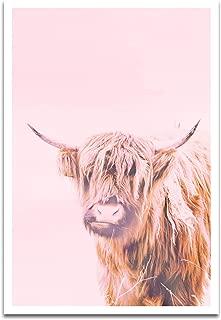 Visionary Prints A Highland Modern Domestic Animals Cows Art Poster Print, 13
