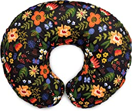Boppy Original Nursing Pillow & Positioner, Black Floral, Cotton Blend Fabric with Allover Fashion, 00056031240490