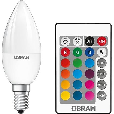 Osram LEDStar+ Classic B RGBW Lampe, En Forme De Bougie, E14, Gradation Et Contrôle Des Couleurs Par Télécommande, Remplace 25 Watts, Blanc Chaud - 2700 Kelvin, 1 Paquet