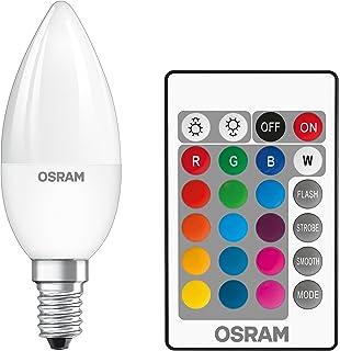 Osram LEDStar+ Classic B RGBW Lampe, En Forme De Bougie, E14, Gradation Et Contrôle Des Couleurs Par Télécommande, Remplac...
