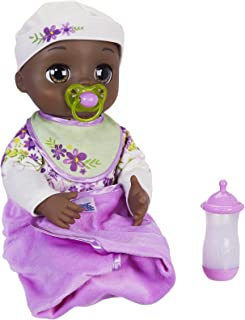Baby Alive Real As Can Be Baby: Realistic African American Doll, 80+ Lifelike Expressions, Movements & Real Baby Sounds, With Doll Accessories, Toy for Girls and Boys 3 and Up