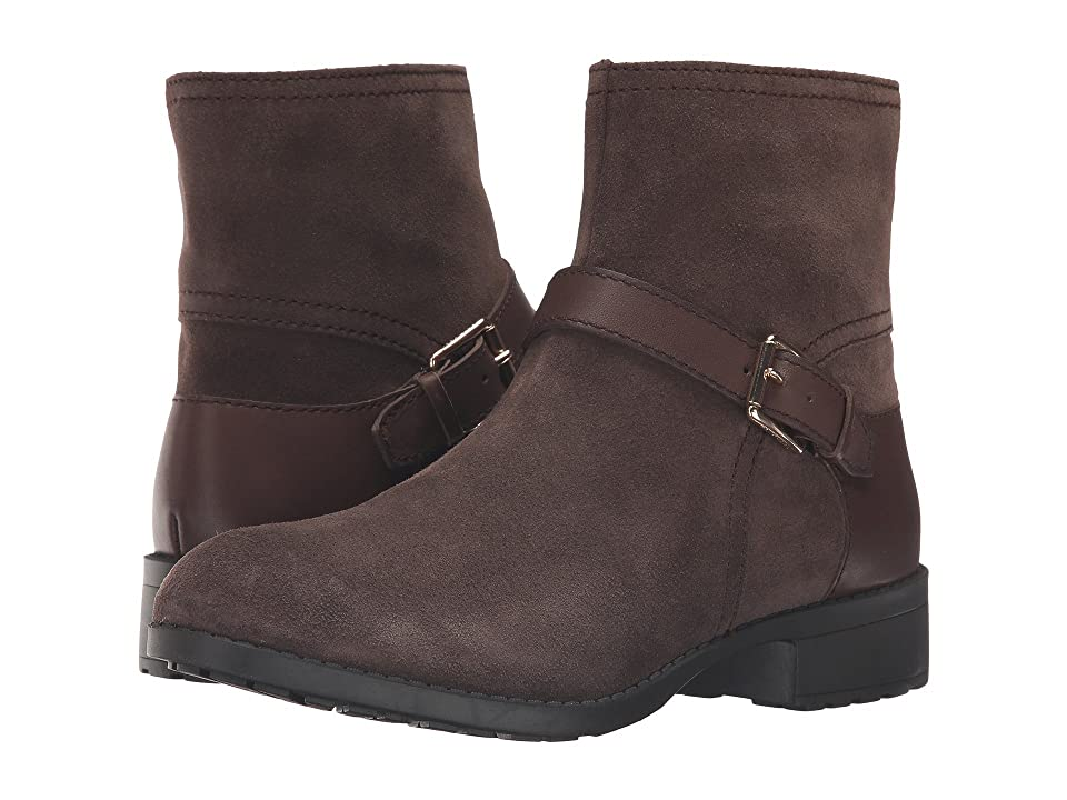 Cole Haan Marla Bootie Waterproof (Dark Taupe Suede/Dark Taupe Leather) Women