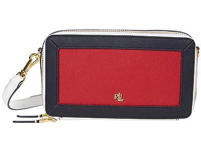 LAUREN Ralph Lauren Crosshatch Leather Danna 19 Crossbody Small