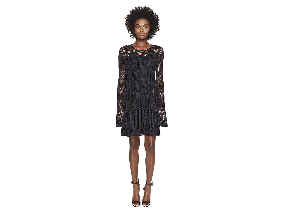 McQ Fine Crochet Dress (Darkest Black) Women
