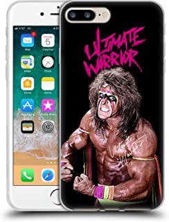 Official WWE Photo & Signature Ultimate Warrior Soft Gel Case Compatible for iPhone 7 Plus/iPhone 8 Plus