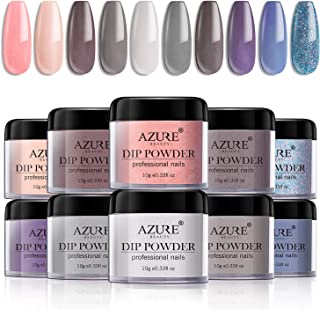 Dip Powder Nails Color Set With 10 PCS Dip Powders Nails No UV/LED Nail Lamp Needed for French Nail Manicure Nail Art