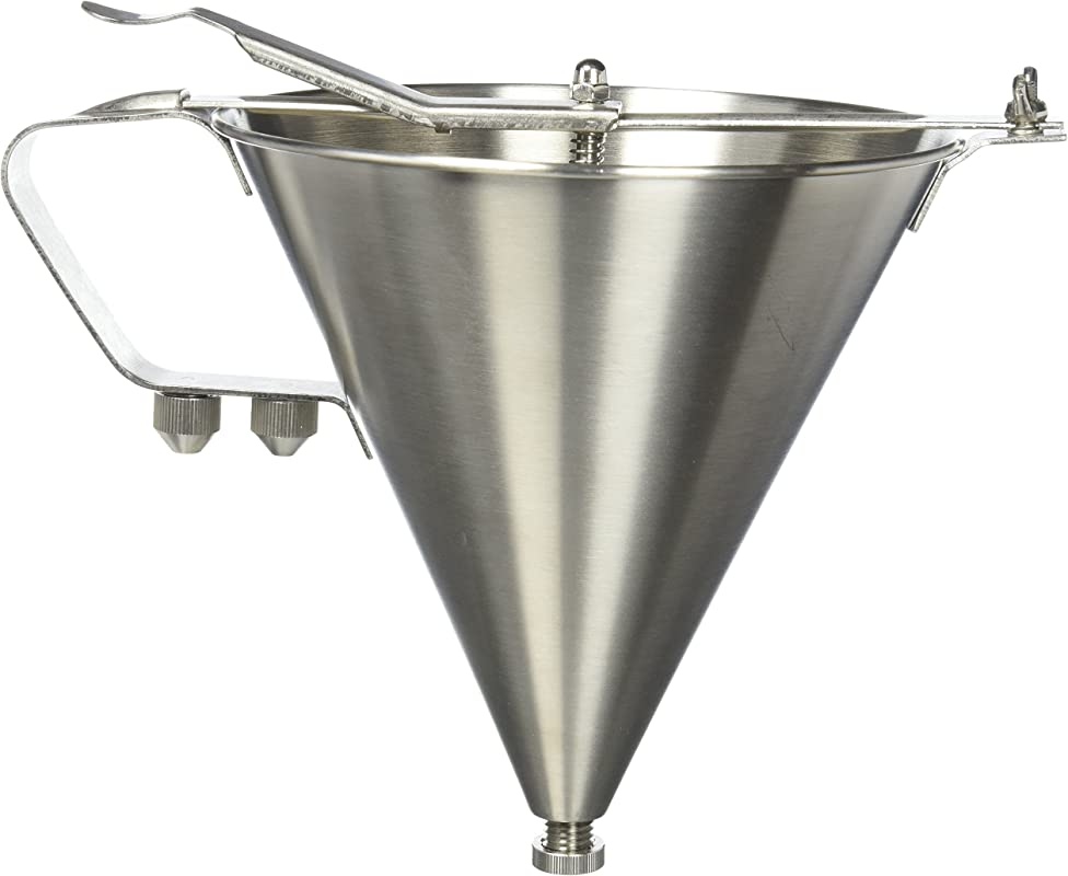 Winco SF 7 Stainless Steel Confectionery Funnel With 3 Nozzles