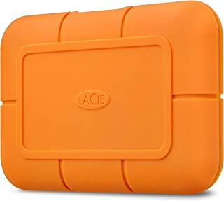 LaCie Rugged SSD 2TB Solid State Drive — USB-C USB 3.0, Drop Shock Dust Water Resistant, for Mac and PC Computer Desktop Laptop, 1 Mo Adobe CC (STHR2000800)