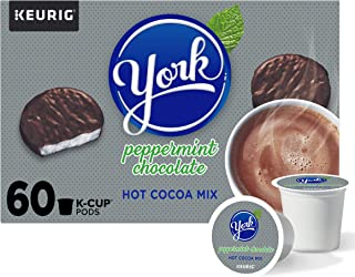Hershey's York Peppermint Chocolate Hot Cocoa K-Cup Pods (60 Pods, 6 Packs of 10)