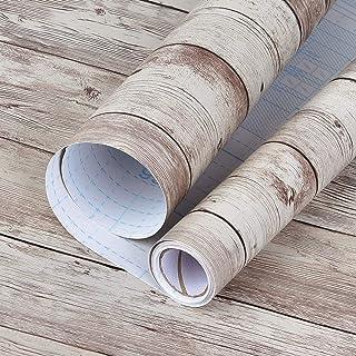 壁紙 beehome 壁紙シール 木目 はがせる リメイクシート のり付き 補修 防水 カッティングシート 約10mX45cm幅 アンテイークブラウン…
