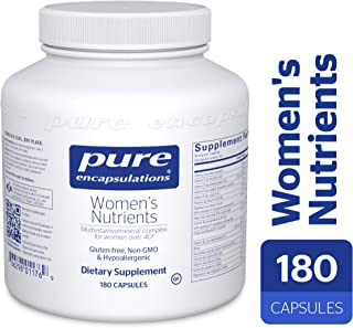 Pure Encapsulations - Women's Nutrients - Hypoallergenic Multivitamin/Mineral Complex for Women Over 40*- 180 Capsules