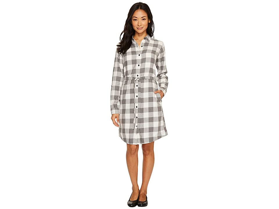 Royal Robbins Jackson Plaid Dress (Creme) Women