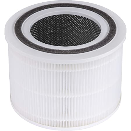 LEVOIT Core 300 Air Purifier Replacement Filter, 3-in-1 Pre-Filter, True HEPA Filter, High-Efficiency Activated Carbon Filter, Core 300-RF (1 Pack)