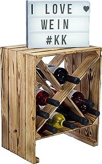 Kistenkolli Altes Land Étagère à vin Blanc/naturel 50 x 40 x 27 cm Caisse pour pommes Rangement de bouteilles Rangement po...