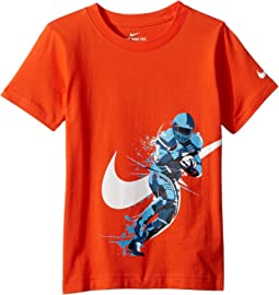 Brush Football Player Cotton Tee (Little Kids)