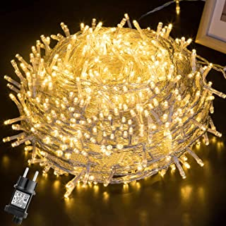 Luces Navidad Exterior 100M 500LEDs,GlobaLink Luces Arbol Navidad IP44 Impermeable,Guirnaldas Luces Exterior Interior 8 Mo...