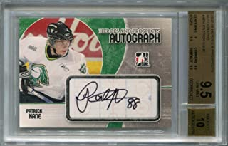 Patrick Kane Rookie Chicago Blackhawks BGS Certified Authentic Autograph - 2007 In The Game Heroes And Prospects (Autographed Hockey Cards)