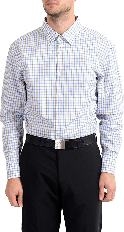 Hugo Boss PaetonUS Men's Sharp Fit Long Sleeve Dress Shirt US 17 IT 43