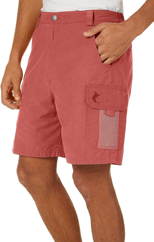Reel Legends Mens Tarpon Quick Dry 7'' Cargo Shorts Large Aqua Sky Blue