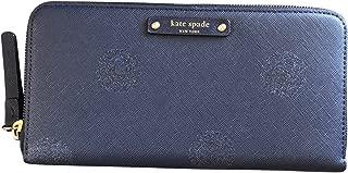 Kate Spade New York Haven Lane Glitter Neda zip Around Continental Wallet Navy
