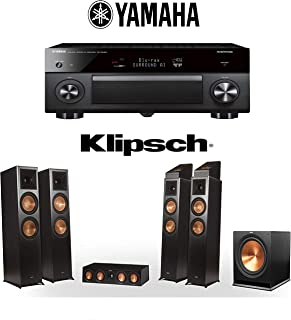 Klipsch RP-8060FA 5.1.4 Dolby Atmos Home Theater System with Yamaha AVENTAGE RX-A3080 9.2-Channel 4K Home Theater AV Receiver