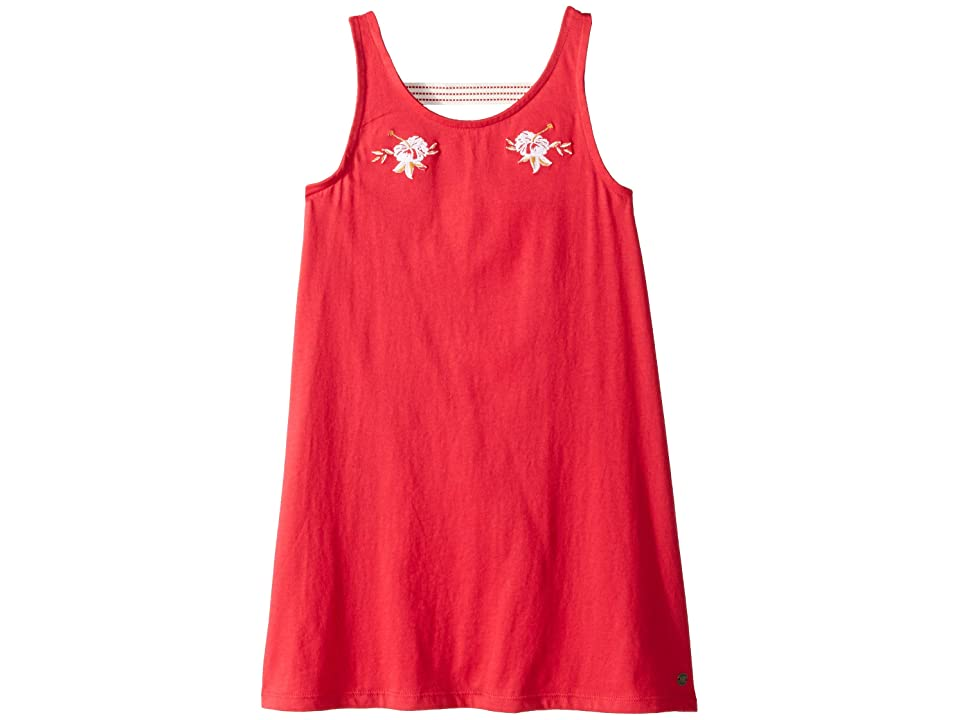 Roxy Kids Leaves Movement Dress (Big Kids) (Barberry) Girl