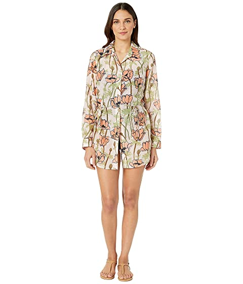 Tory Burch Swimwear Brigitte Printed Beach Tunic Cover-Up