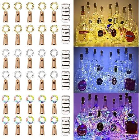 Battery 1,2,3 Pack 8er LED Wire Light Chain bottle corks wine bottle Inc.