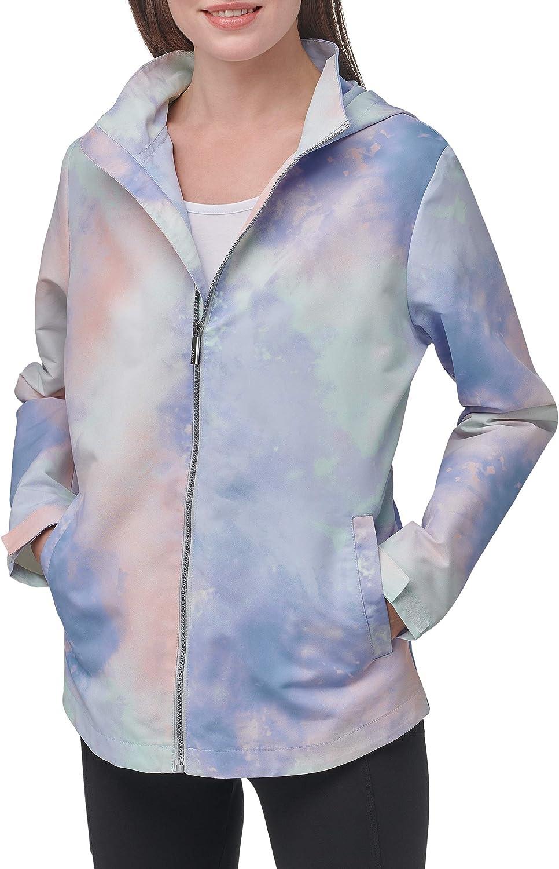 Marc New York Performance Women's Printed Rain Resistant Windbreaker Jacket