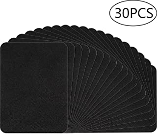 30 Pieces Iron on Patches Black Fabric Iron on Patches Repair kit Large Size for Clothes, Pants, Jeans, Jackets (4.9 x3.7 Inch)