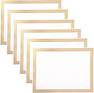 Certificate Paper 8.5 x 11 Inches, 50-Pack Diploma Paper, Letter Size, Blank, Gold Foil Borders