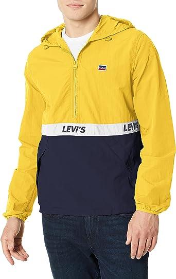 Levi's Men's Lightweight Retro Hooded Color Block Popover Jacket