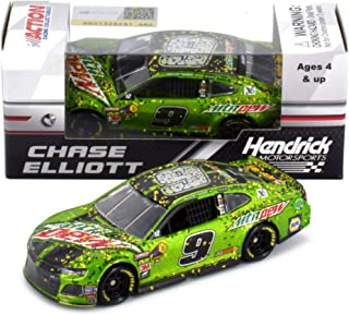 Chase Elliott 2018 Kansas Win MTN Dew Raced Version NASCAR Diecast Car 1:64 Scale