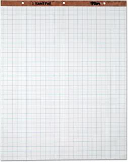 TOPS Easel Pad, 3-hole punched, white, 15 lb, 1