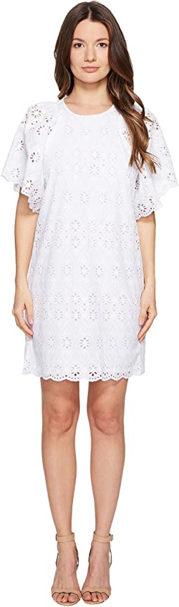 Spice Things Up Eyelet Shift Dress