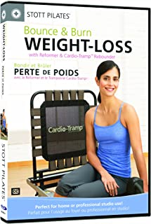 STOTT PILATES Bounce and Burn Weight-Loss with Reformer and Cardio-Tramp Rebounder (English/French)