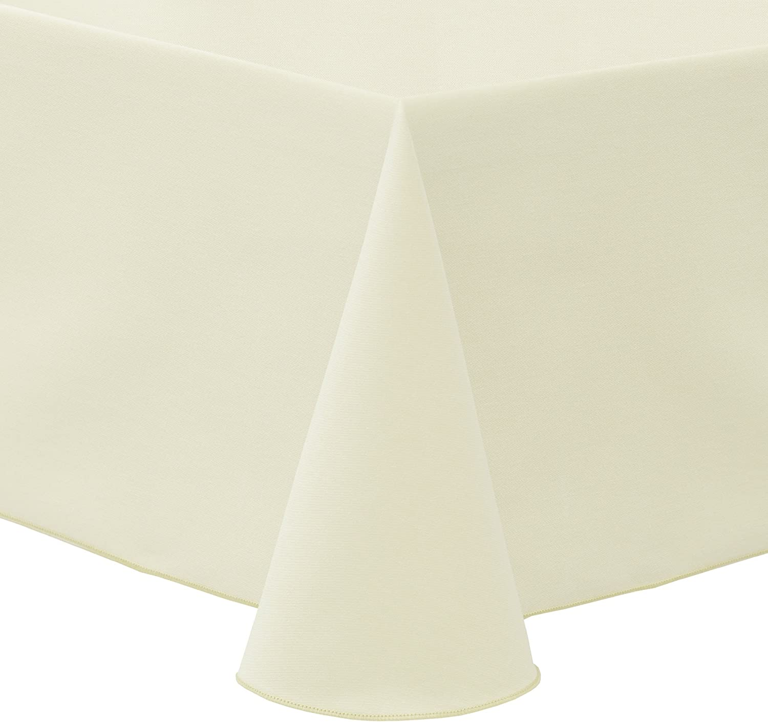 Ultimate Textile Poly-Cotton Twill 52 x 70-Inch Oval Tablecloth Ivory Cream