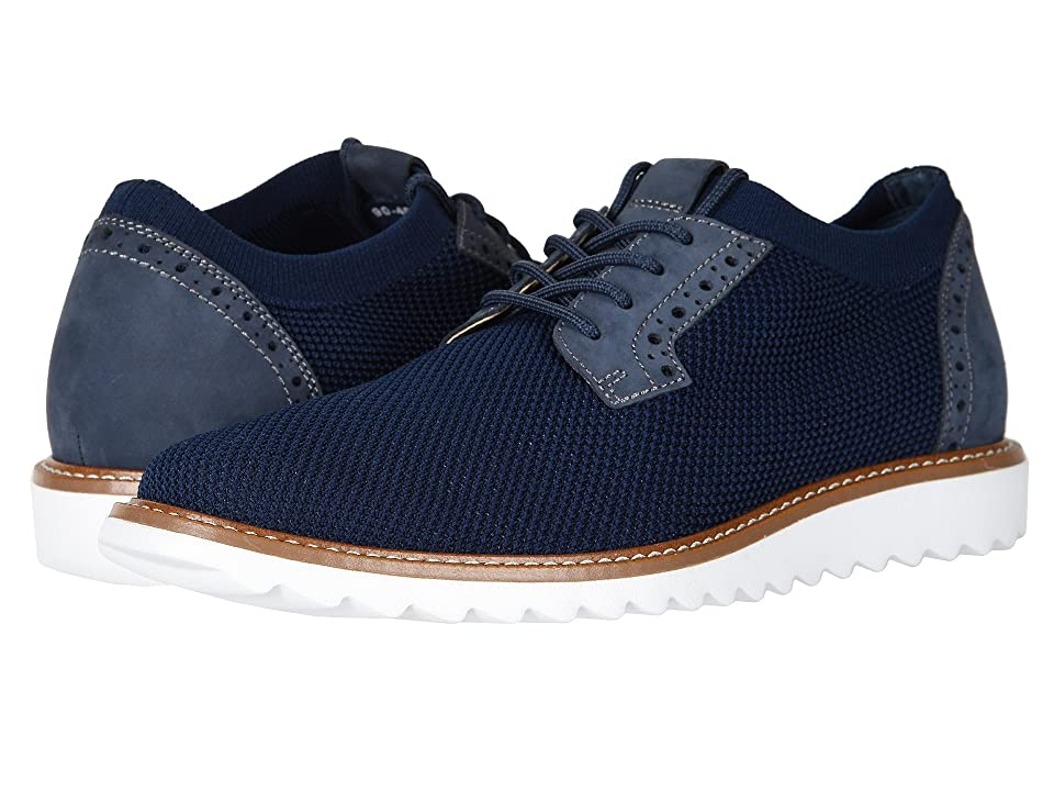Dockers Einstein Knit/Leather Smart Series Dress Casual Oxford with NeverWet (Navy Knit/Nubuck) Men
