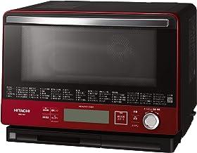 日立 ボイラー熱風式過熱水蒸気 オーブンレンジ ヘルシーシェフ 大容量30L 300℃熱風2段オーブン Wスキャン調理 MRO-VW1 R メタリックレッド