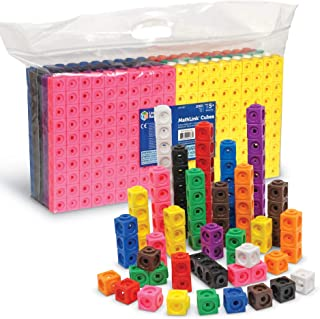 Learning Resources MathLink Cubes, Set of 1000 Cubes,12 to 17 Inches,Multicolor