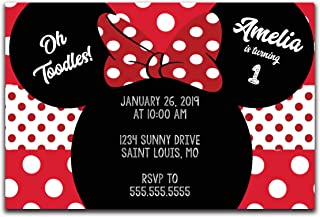 Customized - Minnie Mouse Birthday Party Invitation (15)
