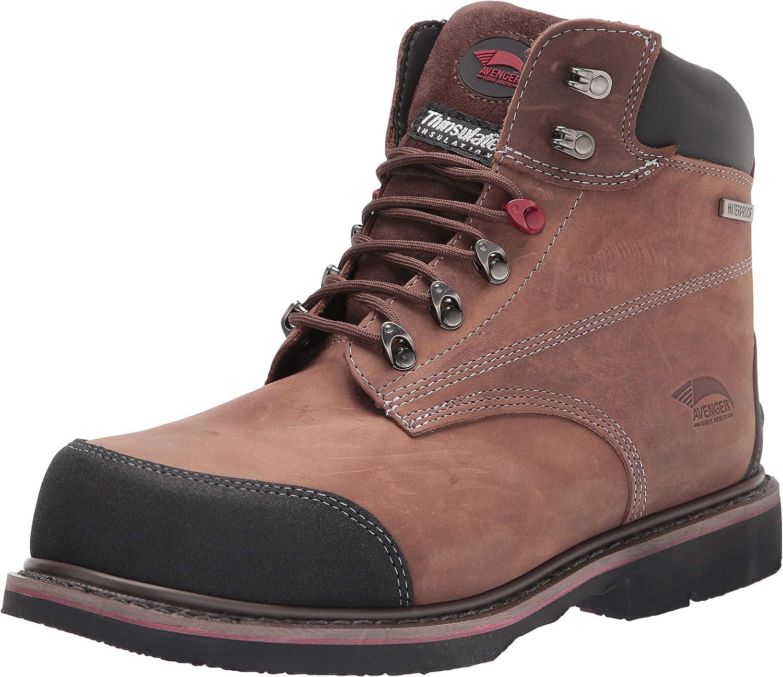 Avenger Work Boots Hammer A7334 Men's Comp Toe EH Waterproof Work Boots