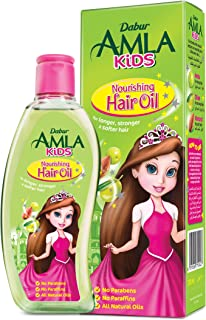 Dabur Amla Kids Hair Oil; Long, strong and soft hair ; Enriched with Amla,Olive, Almond; Natural oils, Vitmain E; 200 ML