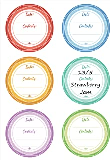 Premium Canning Labels for Mason Jars, Removable Waterproof Write-On Food Labels for Canned Jams, Preserves, Pantry & Kitchen Organization
