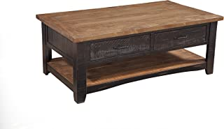 Martin Svensson Home Rustic Coffee Table, Antique Black and Honey Tobacco