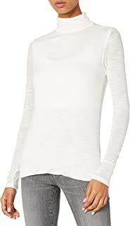 Halston Heritage Women's Long Sleeve Turtleneck Slim Tee