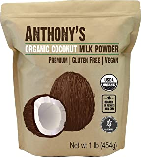 Anthony's Organic Coconut Milk Powder, 1lb, Gluten Free, Vegan & Dairy Free